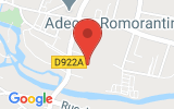 Plan Google Stage recuperation de points Romorantin-Lanthenay 41200, 5 Rue Jean Monnet
