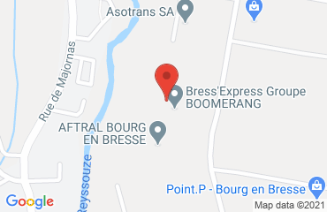 Lieu de stages AFTRAL sur la carte de Bourg-en-Bresse