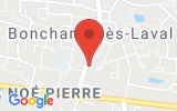 Plan Google Stage recuperation de points Bonchamp-lès-Laval 53960, 18 Rue du Maine