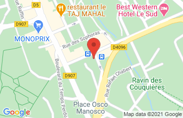 Lieu de stages Best Western Le Sud sur la carte de Manosque