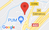 Plan Google Stage recuperation de points Aubagne 13400, Route Nationale 396 Pont de l'étoile