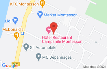 Lieu de stages HOTEL CAMPANILE sur la carte de Montesson