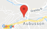 Plan Google Stage recuperation de points Aubusson 23200, Esplanade Charles de Gaulle