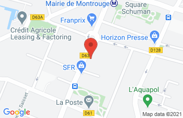 Lieu de stages FEDERATION NATIONALE DE L'ACE sur la carte de Montrouge