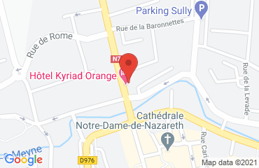 Lieu de stages KYRIAD (ancien HOTEL DES PRINCES) sur la carte de Orange