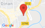 Plan Google Stage recuperation de points Dinan 22100, Rue Victor Basch