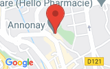 Plan Google Stage recuperation de points Annonay 07100, 38 Rue Sadi Carnot