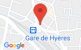 Plan Google Stage recuperation de points Hyères 83400, 45 Avenue Edith Cavell